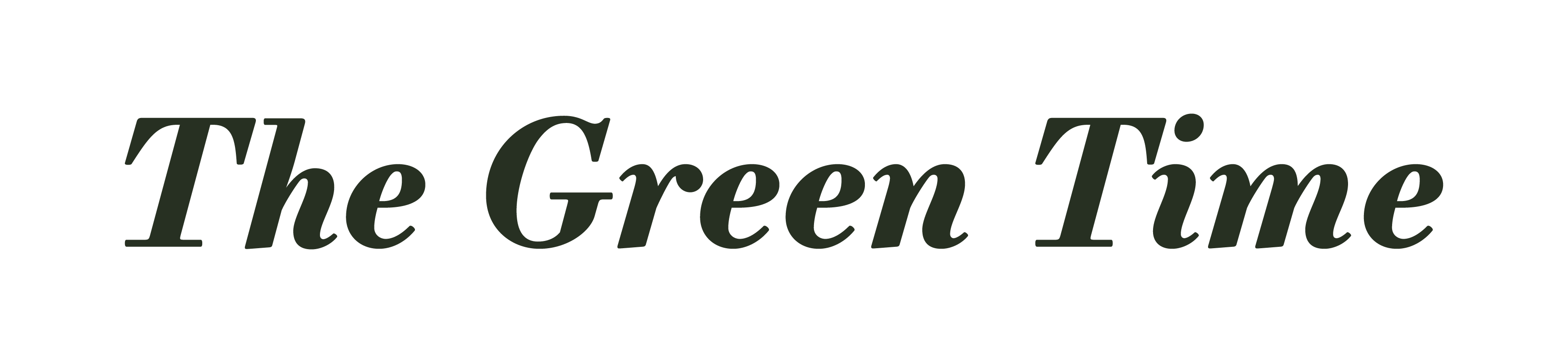 The Green Time logo